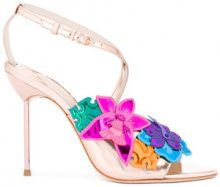 Sophia Webster - floral metallic sandals - women - Leather - 36.5, 37, 38 - Multicolore