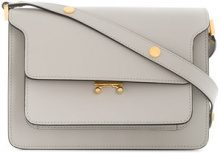 Marni - Borsa a spalla Trunk - women - Calf Leather/Brass - One Size - GREY