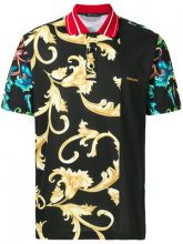 Versace - Acid Baroque polo shirt - men - Cotone - M, L, XXXL, XL - Nero