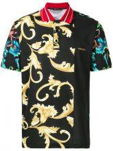 Versace - Acid Baroque polo shirt - men - Cotone - M, L, XXXL, XL - Nero