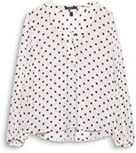 ESPRIT Collection 018eo1f001, Camicia Donna, Bianco (off White 2 111), 44 (Taglia Produttore: 38)