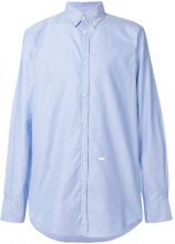 Dsquared2 - plain button shirt - men - Cotone - 46, 48, 50, 52, 54 - Blu