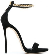 Dsquared2 - chain trimmed sandals - women - Leather/Suede - 37, 38, 39, 40, 37.5, 38.5, 41 - Nero