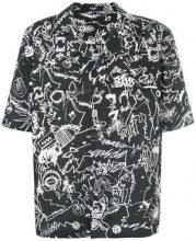 Versus - scribble print shirt - men - Cotone - 46, 50, 52 - Nero