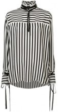 Derek Lam - Long Sleeve Mandarin Collar Shirt with Ties - women - Silk - 36, 40, 42, 44, 38, 46 - Nero