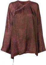 Uma Wang - asymmetric blouse - women - Silk/Spandex/Elastane - S, M - Rosso