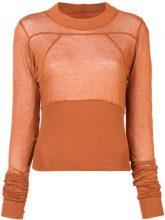 Rick Owens - Cropped Plinth blouse - women - Cotone - 42, 44 - Giallo & arancio