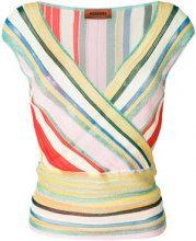Missoni - Top di maglia incrociato - women - Nylon/Polyester/Cupro/Viscose - 40 - Multicolore