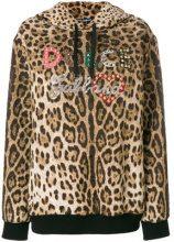 Dolce & Gabbana - Felpa con cappuccio - women - Viscose/Cotone/Silk - 40 - Marrone