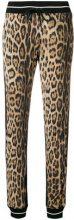 Roberto Cavalli - leopard print track pants - women - Viscose/Cotone/Spandex/Elastane - S, M, L, XL, XXL - Marrone