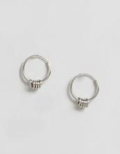 ASOS - Orecchini piccoli ad anello in argento sterling