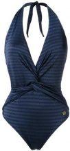 - Brigitte - v - neck swimsuit - women - Elastodiene/Polyamide - P, PP, M, G, GG - Blu