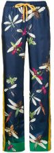 F.R.S For Restless Sleepers - printed straight-leg trousers - women - Silk - XS, S, M, L - Blu