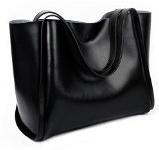 Yaluxe Donna pelle Portable Top Handle Borse a tracolla con Leopard Modello Liner