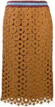 Nº21 - elasticated waist skirt - women - Silk/Polyester/Acetate/Viscose - 40, 42, 44 - Marrone