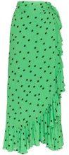 - Ganni - Gonna lunga - women - fibra sintetica - 40 - di colore verde