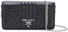 Prada - logo quilted shoulder bag - women - Leather - One Size - Nero