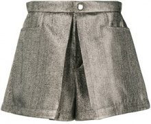- Chloé - inverted pleat shorts - women - Cotone/viscose/SilkAcetatePolyester - 38, 40 - Metallizzato