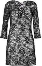- Amir Slama - lace beach dress - women - Cotone - P, M, G - Nero