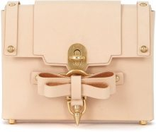 Borsa a tracolla Niels Peeraer Bow Buckle Small in pelle nude
