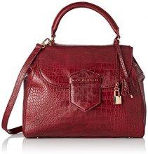 Mac Douglas BRASILIA ROMY, Borsa a mano donna 13x28x32 cm (W x H x L), Rosso (Rosso (Mat Aubergine 59CM)), 13x28x32 cm (W x H x L)