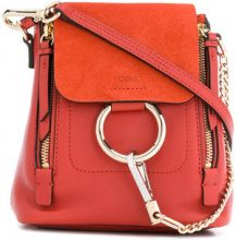 - Chloé - Faye Mini backpack - women - Calf Leather/Cotone - Taglia Unica - Giallo & arancio