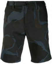 Ps By Paul Smith - camouflage print shorts - men - Cotone - 28, 32, 34, 36 - Blu