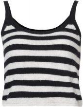 Morgan Lane - cashmere Alice striped tank top - women - Cashmere - S, M, L - Nero