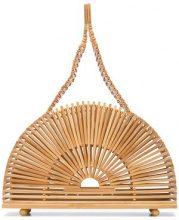- Cult Gaia - Cupola clutch - women - Bamboo - Taglia Unica - Color carne & neutri