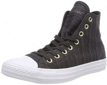 Converse Ctas Hi, Sneaker a Collo Alto Donna, Nero (Almost Black/Tan/White 049), 36.5 EU