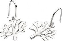 Dew - Orecchini pendenti a forma di albero d'inverno in argento Sterling