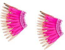 Mignonne Gavigan - Mini Madeleine earrings - women - Acetate - OS - Rosa & viola