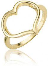 Ingenious Jewellery-Anello in argento Sterling, motivo cuore aperto, misura N RA5347/7/GLD