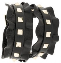 Valentino - Bracciale 'Rockstud' - women - Leather - OS - Nero