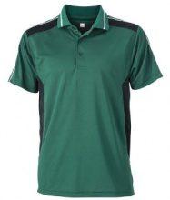 James & Nicholson Poloshirt Craftsmen, Polo Uomo, Verde (Dark-Green/Black), XXX-Large (Taglia Produttore: XXX-Large)