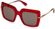 Dolce & Gabbana 0DG6111 31477N 51, Occhiali da Sole Donna, Rosso (Transparent Bordeaux/Purple Brown)