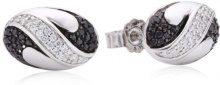 Orphelia dreambase-Orecchini in argento Sterling 925 con zircone nero-bianco ZO-5092