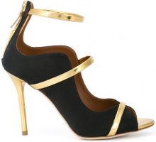 Malone Souliers - Mika strappy pumps - women - Satin/Leather - 36, 36.5, 37, 37.5, 38, 38.5, 39, 39.5, 40, 40.5, 41 - Nero