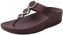 FITFLOP Halo Toe Thong Sandals, Sandali con Plateau Donna, Viola (Deep Plum 398), 37 EU