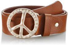 MGM Peace, Cintura Donna, Marrone (Cognac-Rame), 80 cm