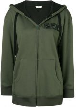 Fendi - logo hoodie - women - Cotone/Polyester/Polyamide/glass - XS, S, M - Verde