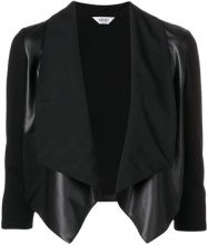 - Liu Jo - cropped waterfall jacket - women - fibra sintetica - 40, 42, 46 - di colore nero