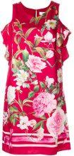 Blugirl - Vestito floreale - women - Polyester - 42 - Rosso