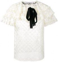 - Philosophy Di Lorenzo Serafini - Blusa di pizzo - women - fibra sintetica/cotone - 44, 40, 42 - di colore bianco