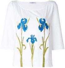 - Vivetta - Blusa floreale - women - Spandex/Elastane/Cotone - 44 - Bianco