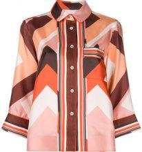 F.R.S For Restless Sleepers - Camicia con motivo geometrico - women - Silk - XS, S, M - Multicolore