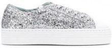 - Chiara Ferragni - glitter low - top sneakers - women - Rubber/Polyester/Leather/LeatherSequin - 37, 38, 39 - di colore grigio
