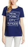 Tommy Hilfiger Womenswear - New York Grid Tee Ss, Maglietta da donna