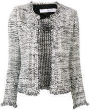 - Iro - knitted fitted jacket - women - fibra sintetica/rayon/fibra sinteticaacrilicolanacotone - 36, 38, 40, 42 - di colore grigio