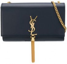 Saint Laurent - Borsa a spalla con nappina 'Kate' - women - Calf Leather - OS - Blu